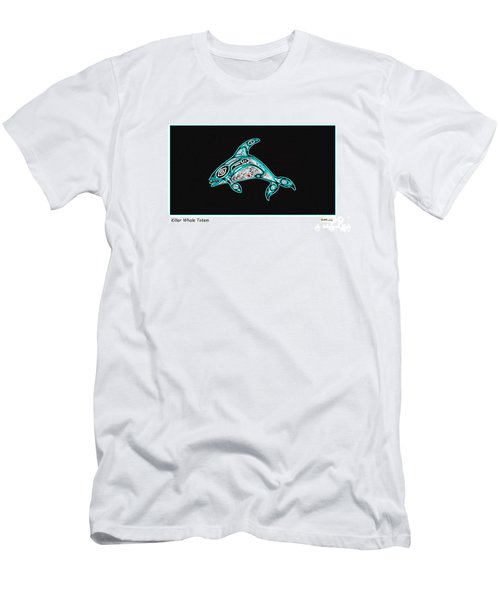 Killer Whale Totem Men's T-Shirt (Athletic Fit)