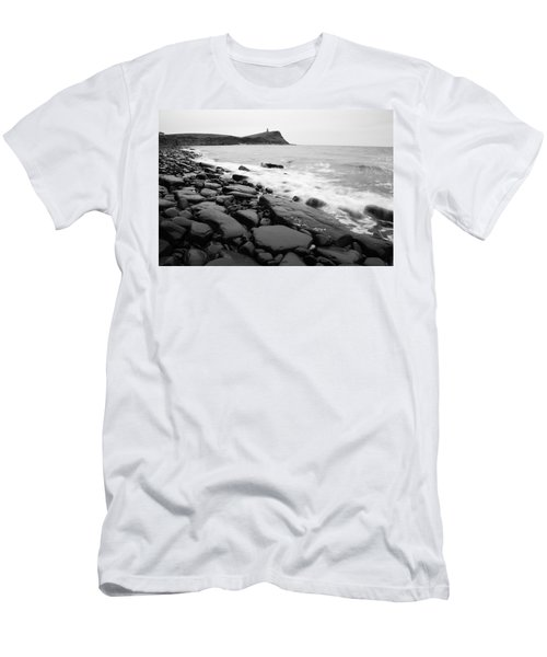 Kimmeridge Bay In Black And White Men's T-Shirt (Athletic Fit)