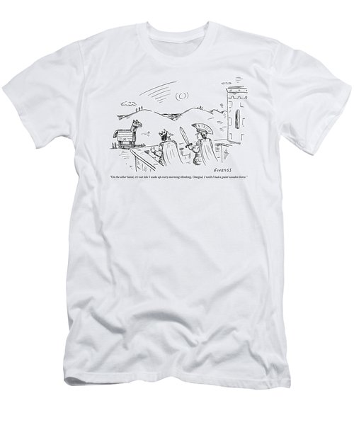 King Priam Stands On A Parapet Men's T-Shirt (Athletic Fit)