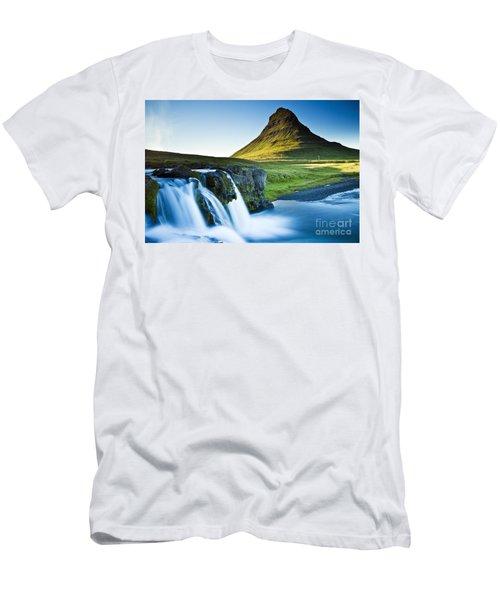 Kirkjufell Mountain Men's T-Shirt (Slim Fit) by Gunnar Orn Arnason