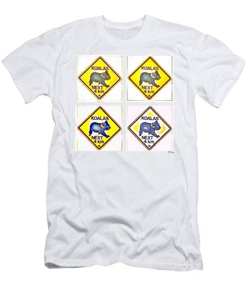 Koalas Road Sign Pop Art Men's T-Shirt (Athletic Fit)