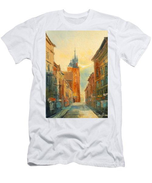 Krakow Florianska Street Men's T-Shirt (Athletic Fit)