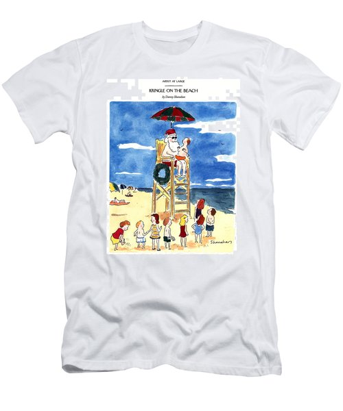 Kringle On The Beach Men's T-Shirt (Athletic Fit)