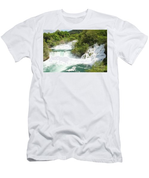 Krka Waterfalls Croatia Men's T-Shirt (Athletic Fit)