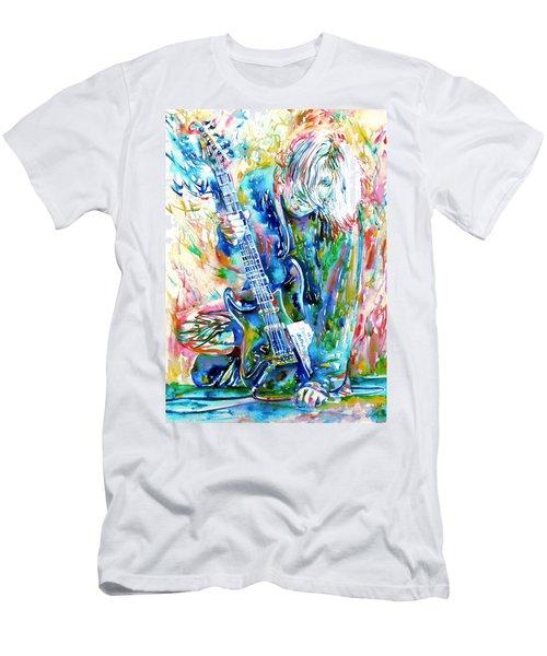 Kurt Cobain Portrait.1 Men's T-Shirt (Athletic Fit)