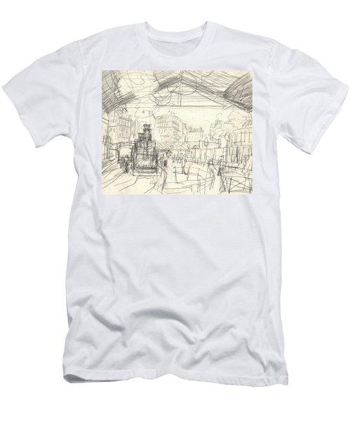 La Gare Saint Lazare Men's T-Shirt (Athletic Fit)