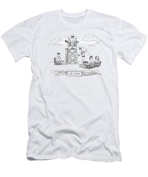 L.a. Law Men's T-Shirt (Athletic Fit)