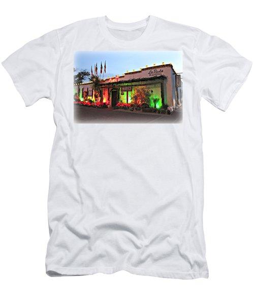 Men's T-Shirt (Slim Fit) featuring the photograph La Posta De Mesilla New Mexico by Barbara Chichester