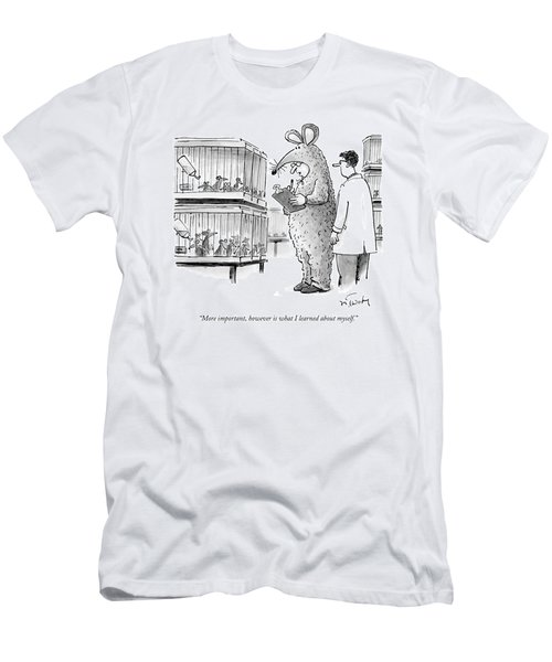 Lab Technician Dressed In A Mouse Costume Men's T-Shirt (Athletic Fit)