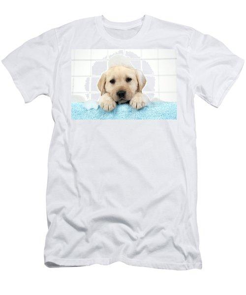 Labrador Puppy In Bath Men's T-Shirt (Athletic Fit)