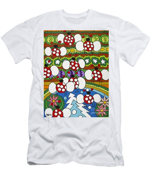 Lady Bugs Men's T-Shirt (Slim Fit) by Rojax Art