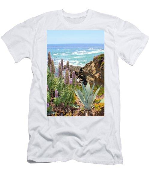 Laguna Coast With Flowers Men's T-Shirt (Athletic Fit)