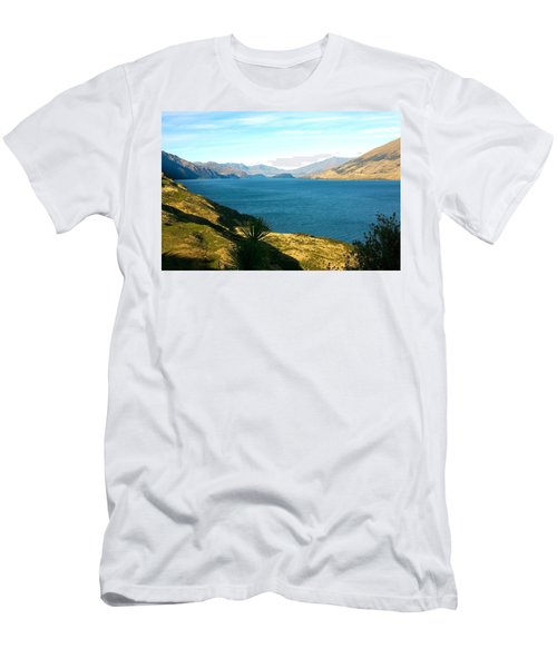 Men's T-Shirt (Slim Fit) featuring the photograph Lake Hawea by Stuart Litoff
