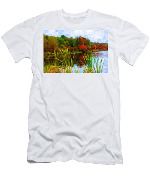 Lake In Early Fall Men's T-Shirt (Athletic Fit)