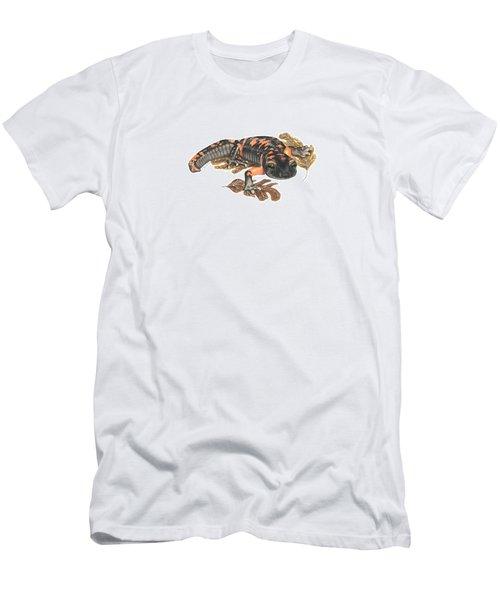 Large Blotched Salamander2 Men's T-Shirt (Slim Fit) by Cindy Hitchcock