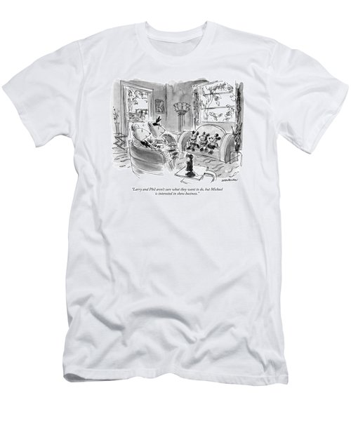 Larry And Phil Aren't Sure What They Want Men's T-Shirt (Athletic Fit)