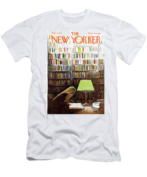 Late Night At The Library Men's T-Shirt (Athletic Fit)