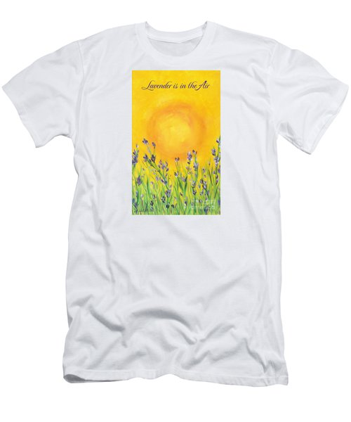 Men's T-Shirt (Slim Fit) featuring the painting Lavender In The Air by Val Miller