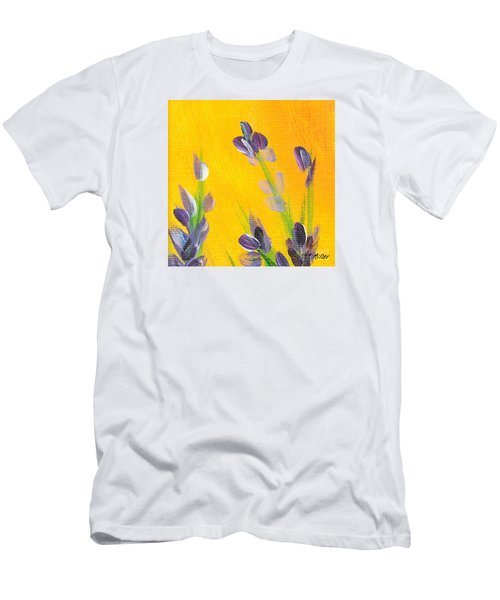 Men's T-Shirt (Slim Fit) featuring the photograph Lavender - Hanging Position 2 by Val Miller