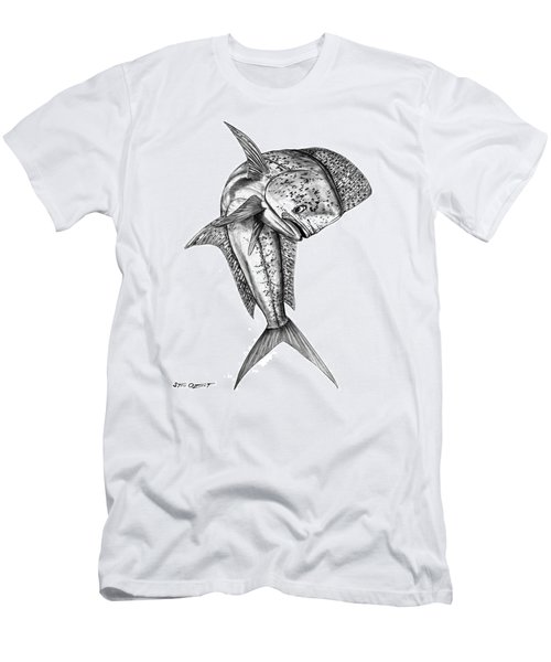 Leaping Dolphin  Men's T-Shirt (Slim Fit) by Steve Ozment