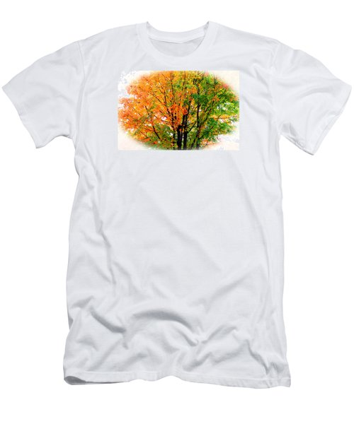 Leaves Changing Colors Men's T-Shirt (Slim Fit) by Cynthia Guinn