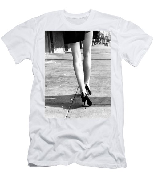Men's T-Shirt (Slim Fit) featuring the photograph Legs New York by Rebecca Harman