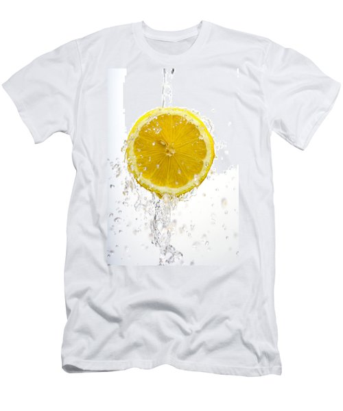 Lemon Splash Men's T-Shirt (Athletic Fit)
