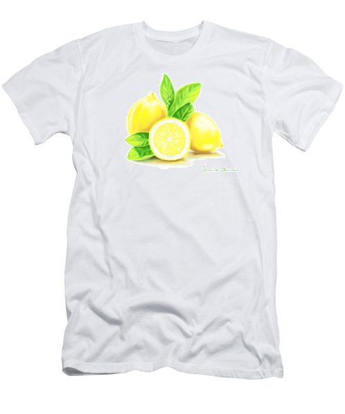 Lemons Men's T-Shirt (Slim Fit) by Veronica Minozzi