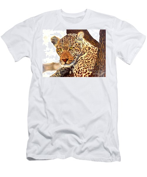 Leopard Point Of View Men's T-Shirt (Athletic Fit)