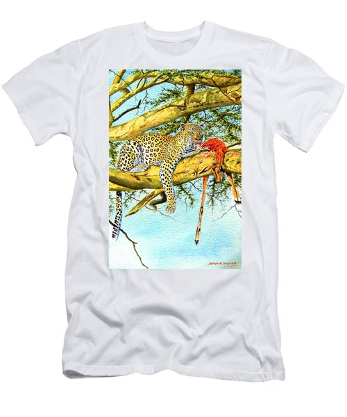 Leopard With A Kill Men's T-Shirt (Athletic Fit)