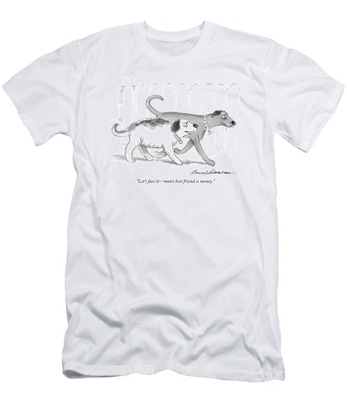 Let's Face It - Man's Best Friend Is Money Men's T-Shirt (Athletic Fit)