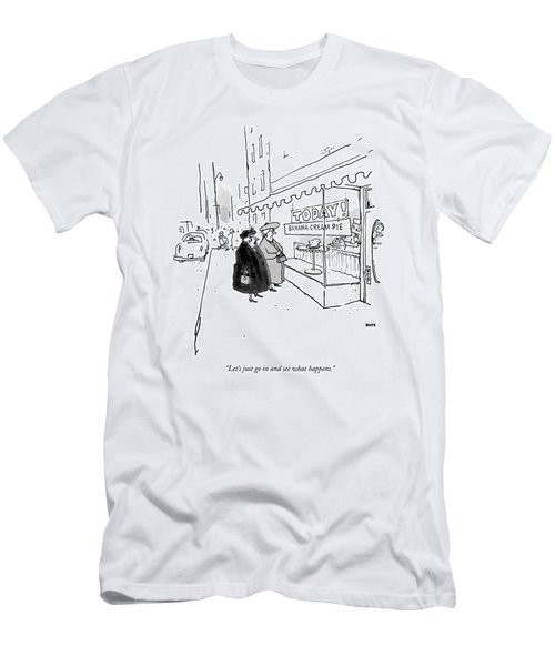 Let's Just Go In And See What Happens Men's T-Shirt (Athletic Fit)