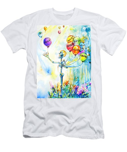 Men's T-Shirt (Slim Fit) featuring the painting Letting Go by Heather Calderon