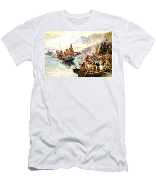 Lewis And Clark On The Lower Columbia  Men's T-Shirt (Athletic Fit)