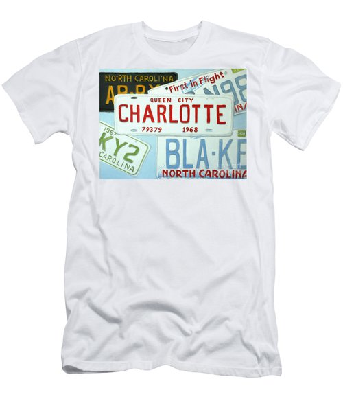 License Plates Men's T-Shirt (Slim Fit) by Stacy C Bottoms