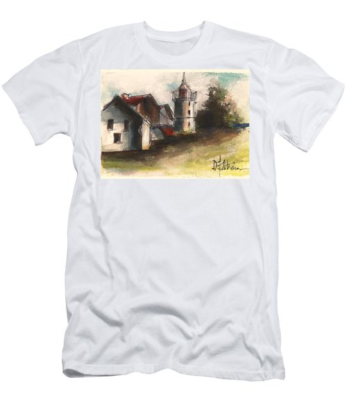 Lighthouse By Day Men's T-Shirt (Athletic Fit)