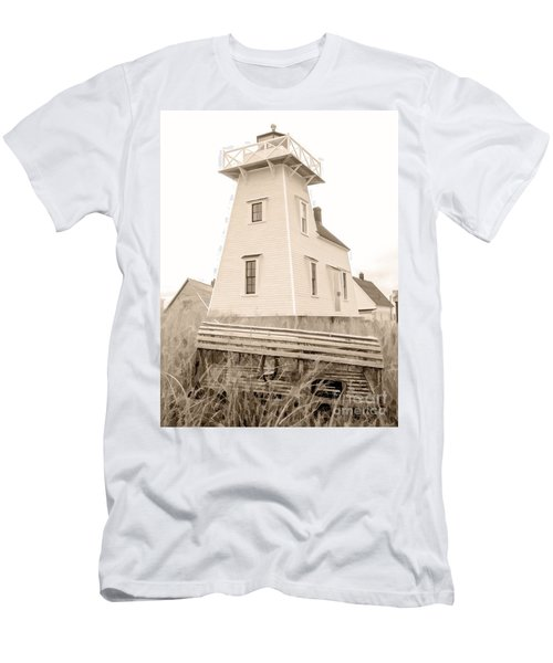 Lighthouse With Lobster Trap Pei Men's T-Shirt (Athletic Fit)