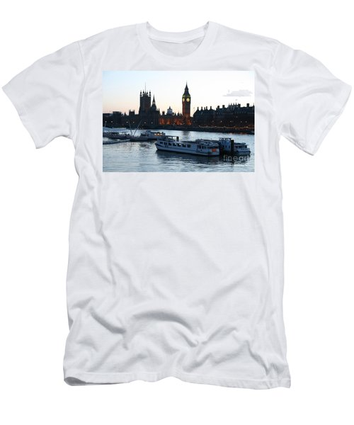 Lighting Up Time On The Thames Men's T-Shirt (Athletic Fit)