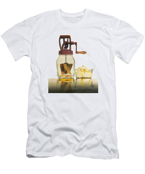 Men's T-Shirt (Slim Fit) featuring the painting Like Buttah by Ferrel Cordle