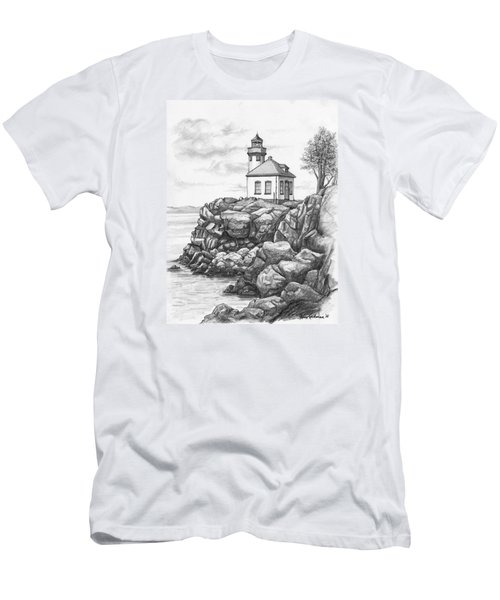Lime Kiln Lighthouse Men's T-Shirt (Athletic Fit)