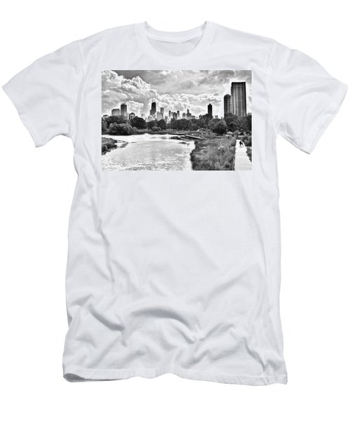 Lincoln Park Black And White Men's T-Shirt (Athletic Fit)