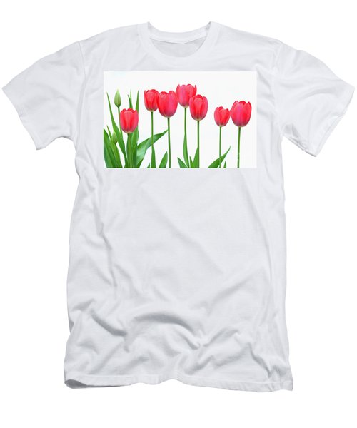 Line Of Tulips Men's T-Shirt (Athletic Fit)