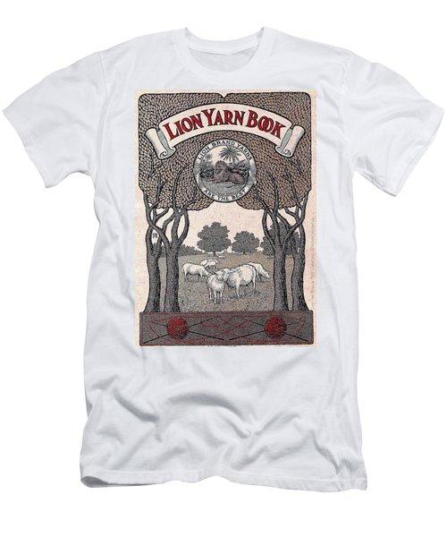 Antique Lion Yarn Book Men's T-Shirt (Slim Fit) by Peter Gumaer Ogden