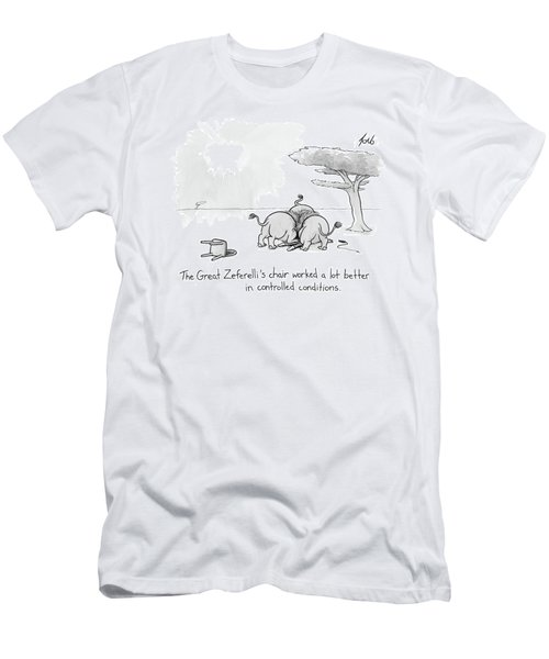 Lions Devour Their Circus Tamer Men's T-Shirt (Athletic Fit)
