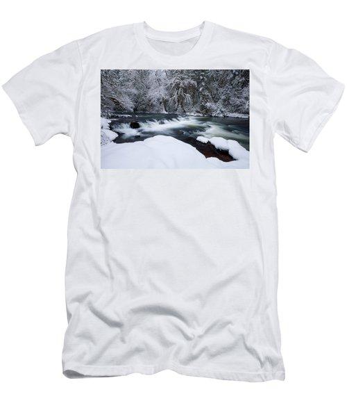 Little Fall Creek Winter Men's T-Shirt (Athletic Fit)