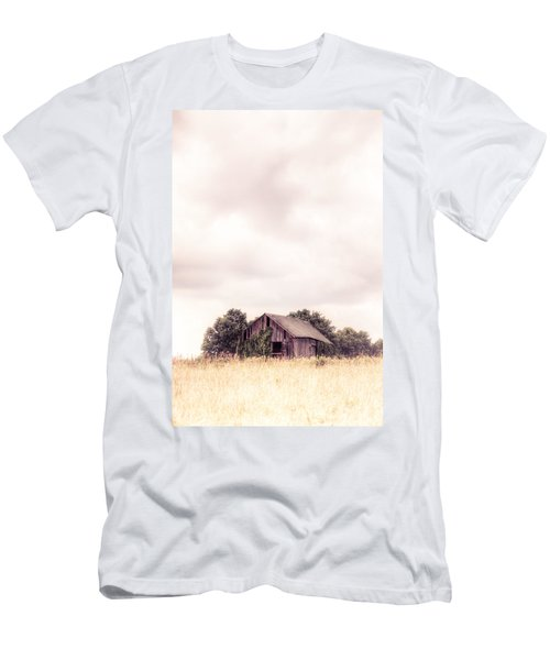 Men's T-Shirt (Slim Fit) featuring the photograph Little Old Barn In The Field - Ontario County New York State by Gary Heller