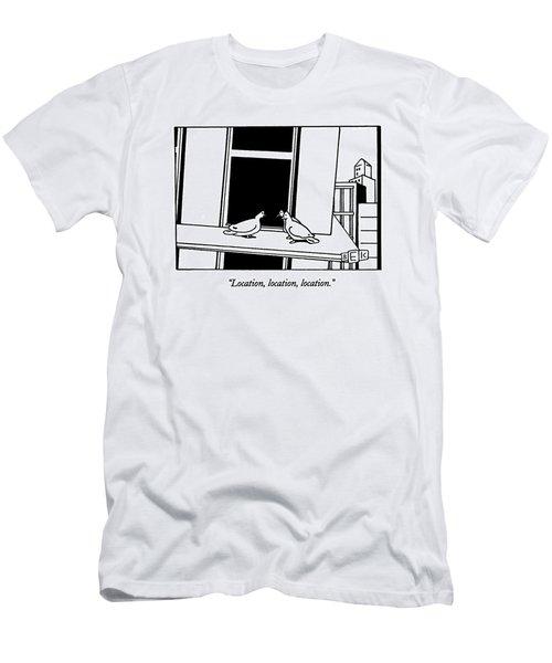Location, Location, Location Men's T-Shirt (Athletic Fit)