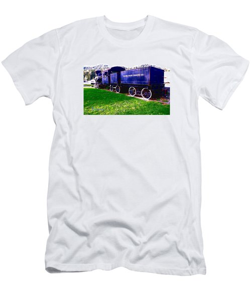 Men's T-Shirt (Slim Fit) featuring the photograph Locomotive Steam Engine by Sadie Reneau