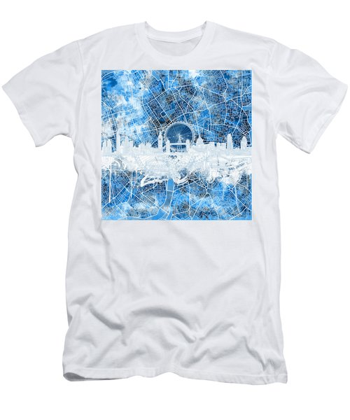 London Skyline Abstract 13 Men's T-Shirt (Athletic Fit)