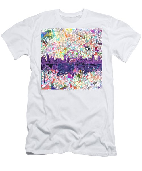 London Skyline Abstract Men's T-Shirt (Athletic Fit)